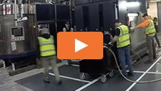 Bewegen Schwerer Maschinen auf Luft