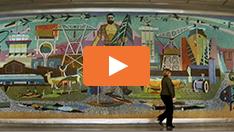 Historisches Wandbild Gerührt