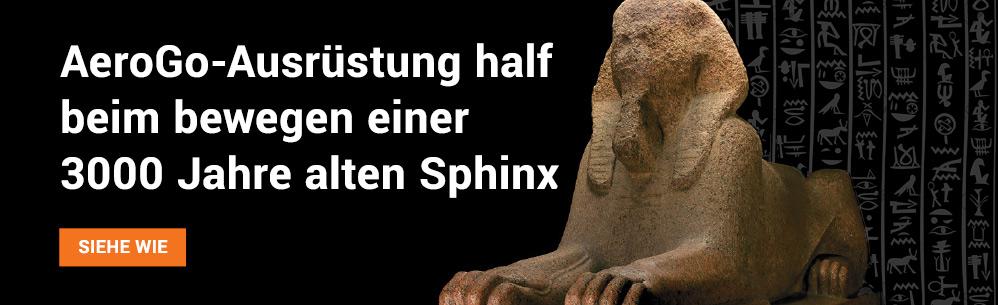 AeroGo-Ausrüstung half, eine 3.000 Jahre alte sphinx zu bewegen