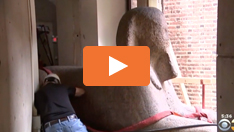Die Sphinx im Penn Museum ist in Bewegung